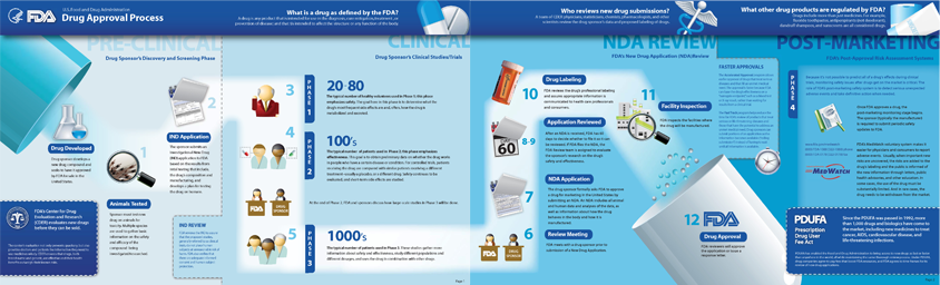 药品FDA审批过程信息图表