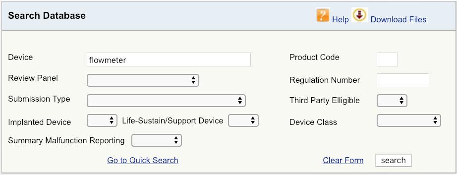 FDA产品分类数据库