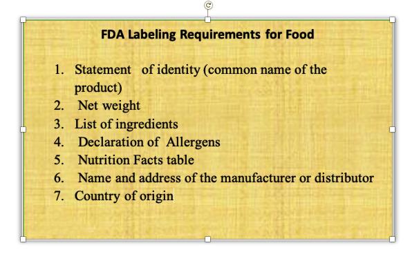 美国食品FDA认证标签要求有哪些?