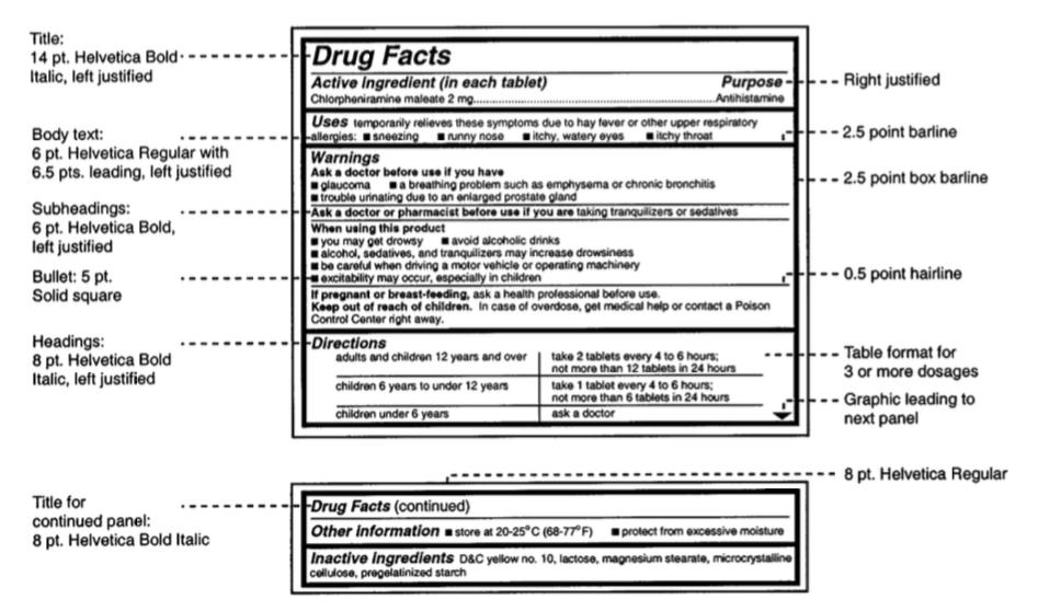 FDA认证药品标签