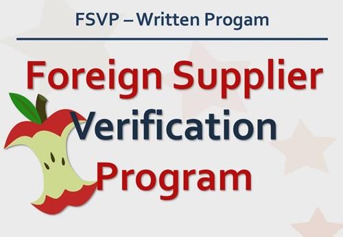 供应商验证计划FSVP